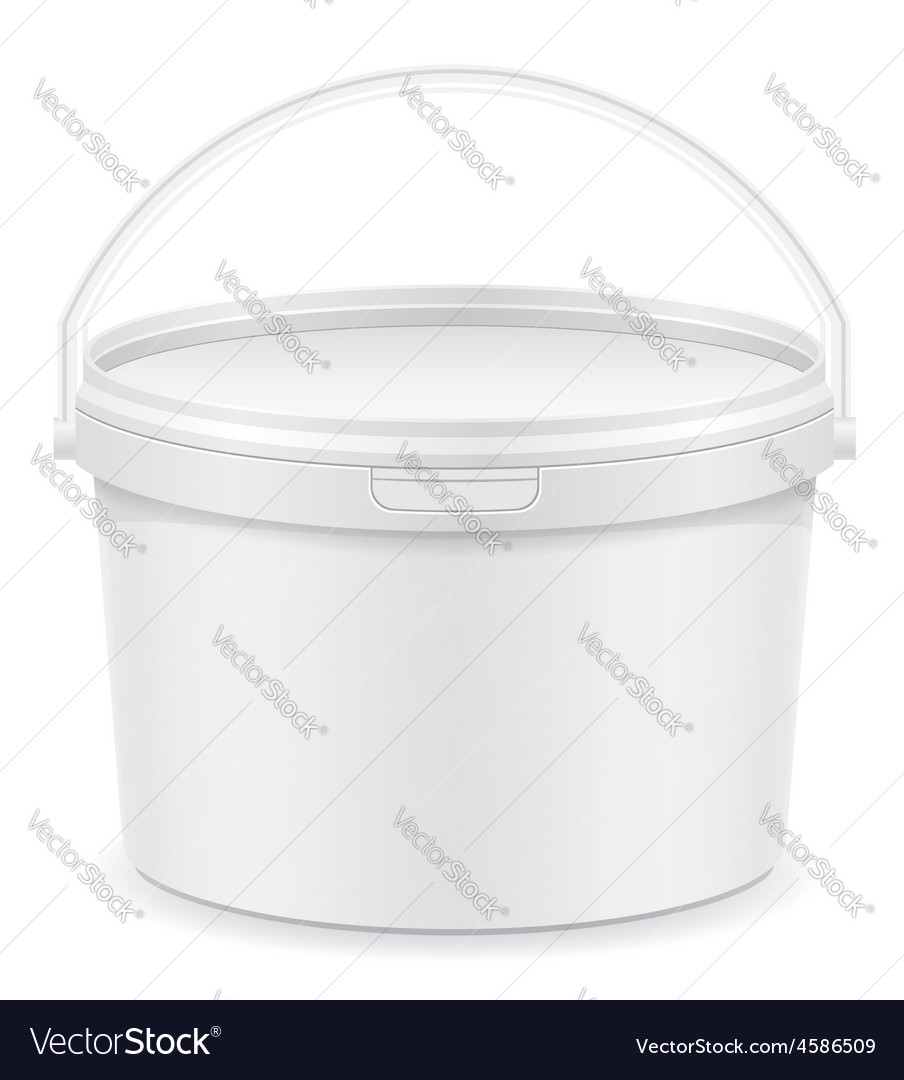 Plastic bucket for paint 01 vector | Price: 1 Credit (USD $1)