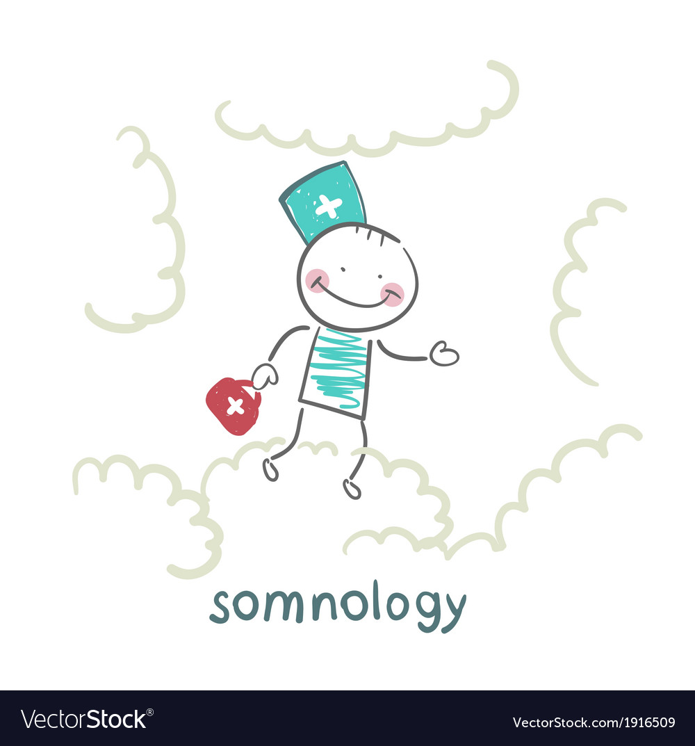 Somnology flying in the sky in the clouds vector | Price: 1 Credit (USD $1)