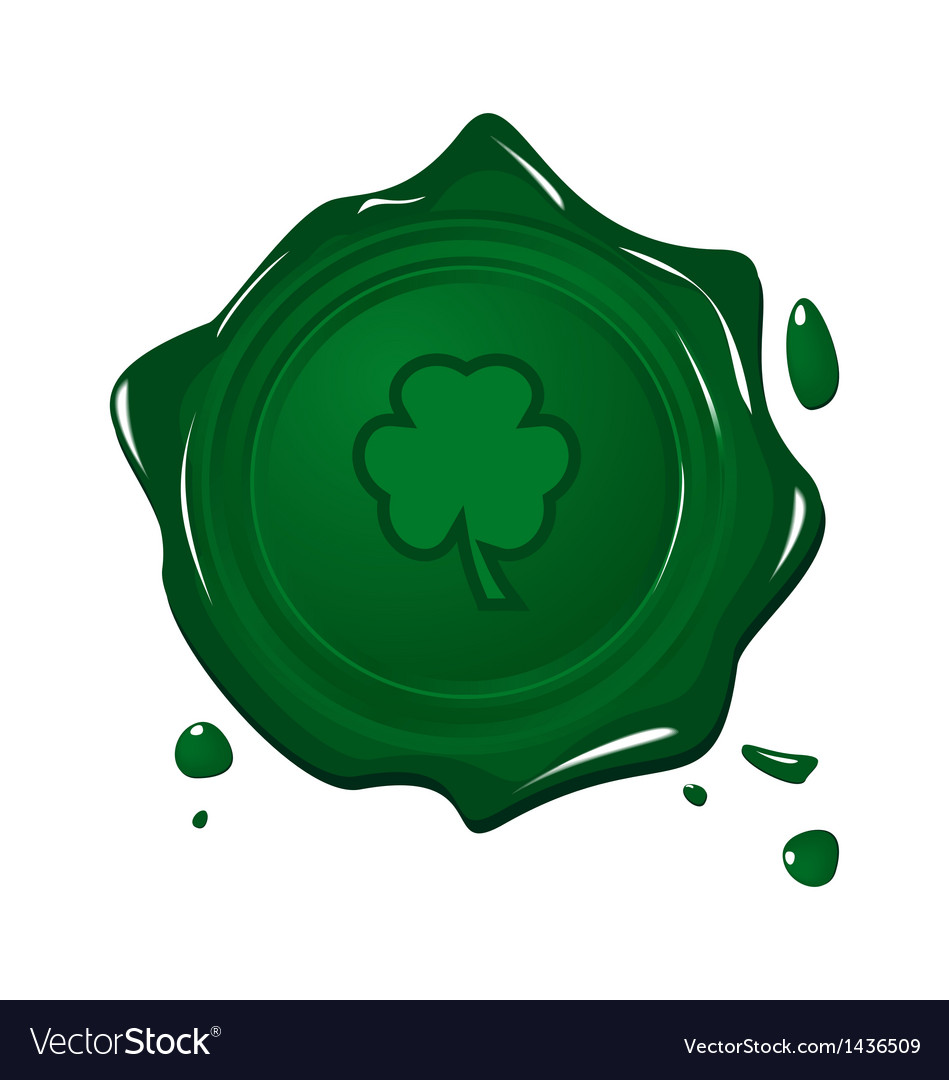 Stamp with clover for saint patrick day vector | Price: 1 Credit (USD $1)