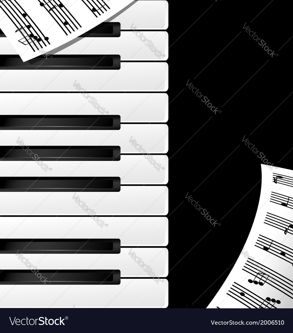 Background keys and note vector | Price: 1 Credit (USD $1)