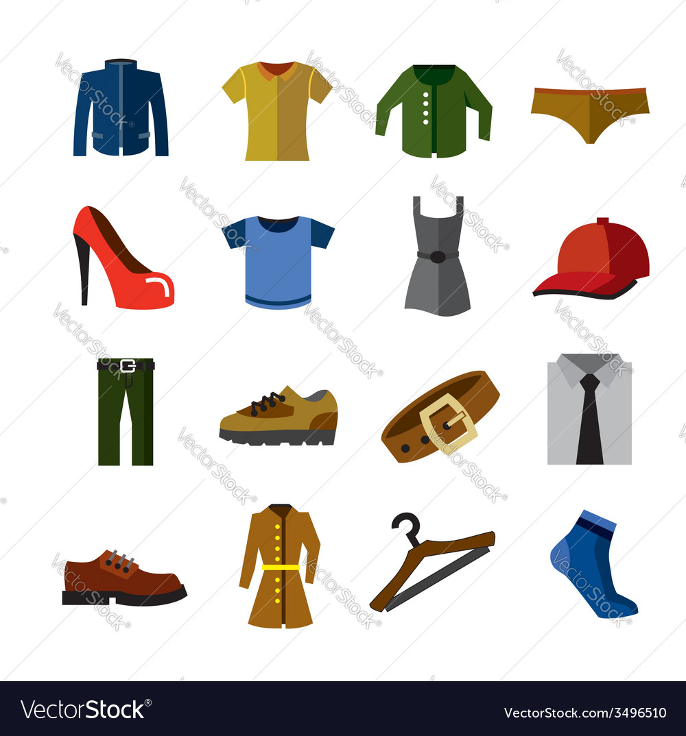 Clothes icons vector | Price: 1 Credit (USD $1)