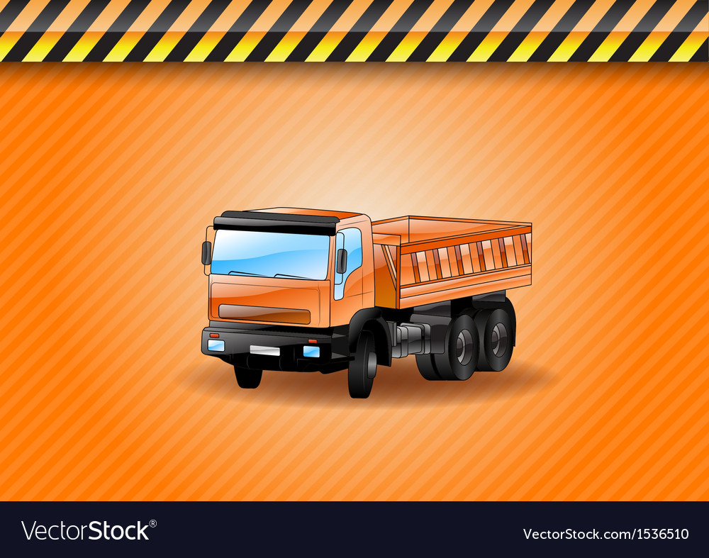 Construction car orange vector | Price: 3 Credit (USD $3)