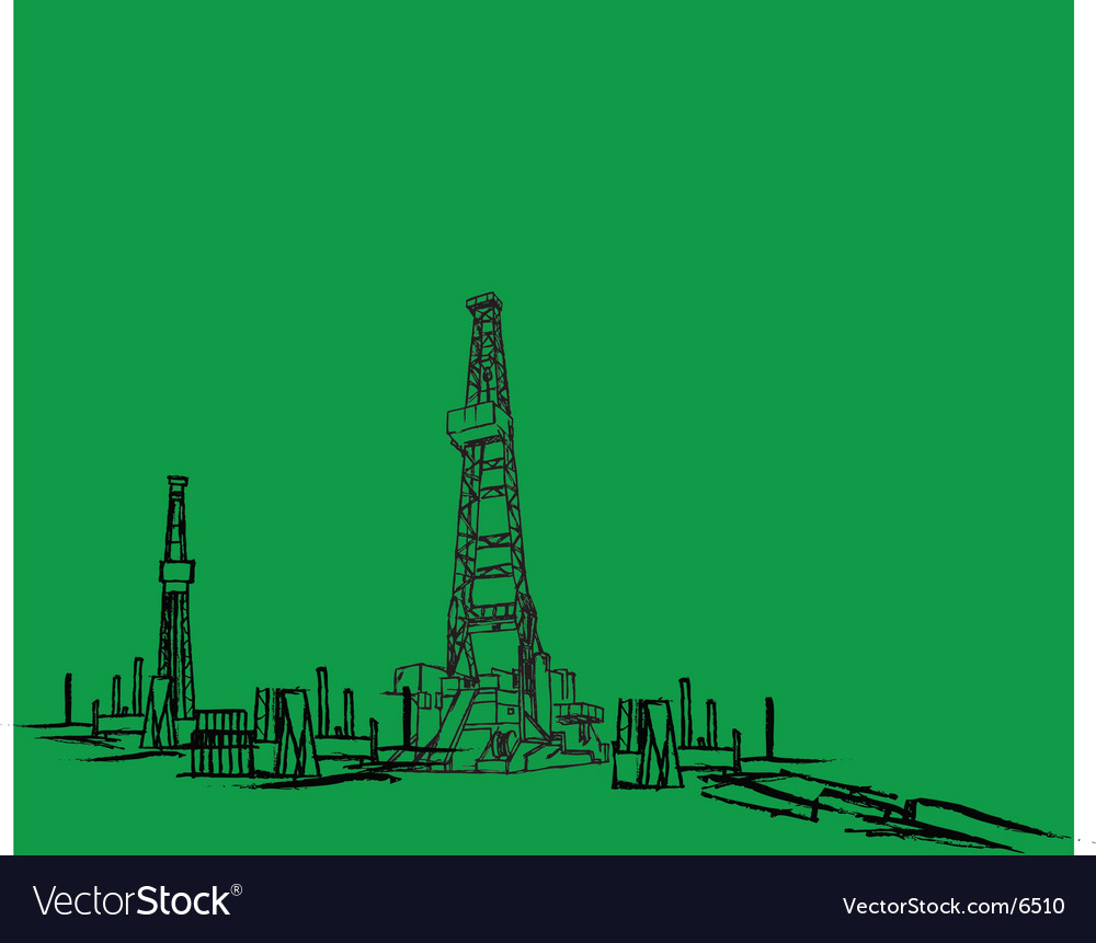 Oil rig vector | Price: 1 Credit (USD $1)