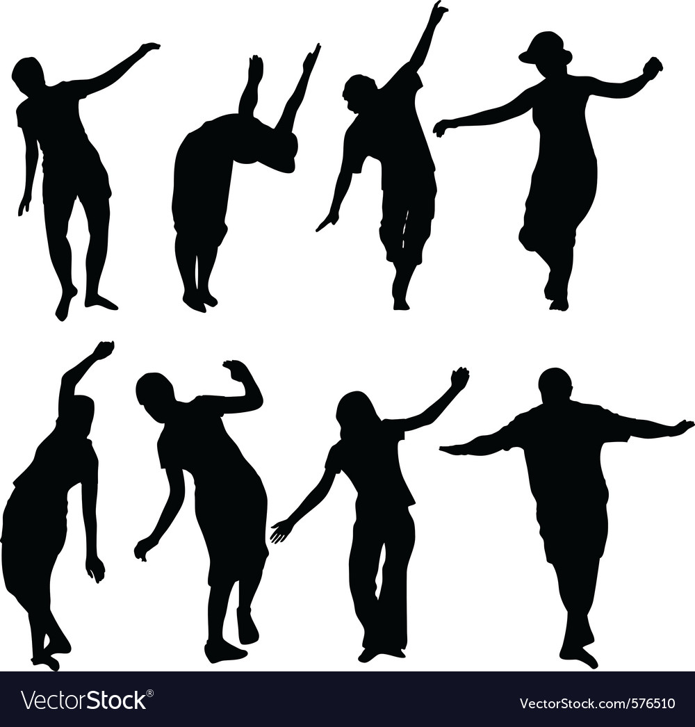Silhouettes of active people vector | Price: 1 Credit (USD $1)