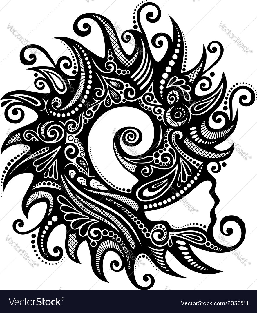 Abstract sea shell vector | Price: 1 Credit (USD $1)