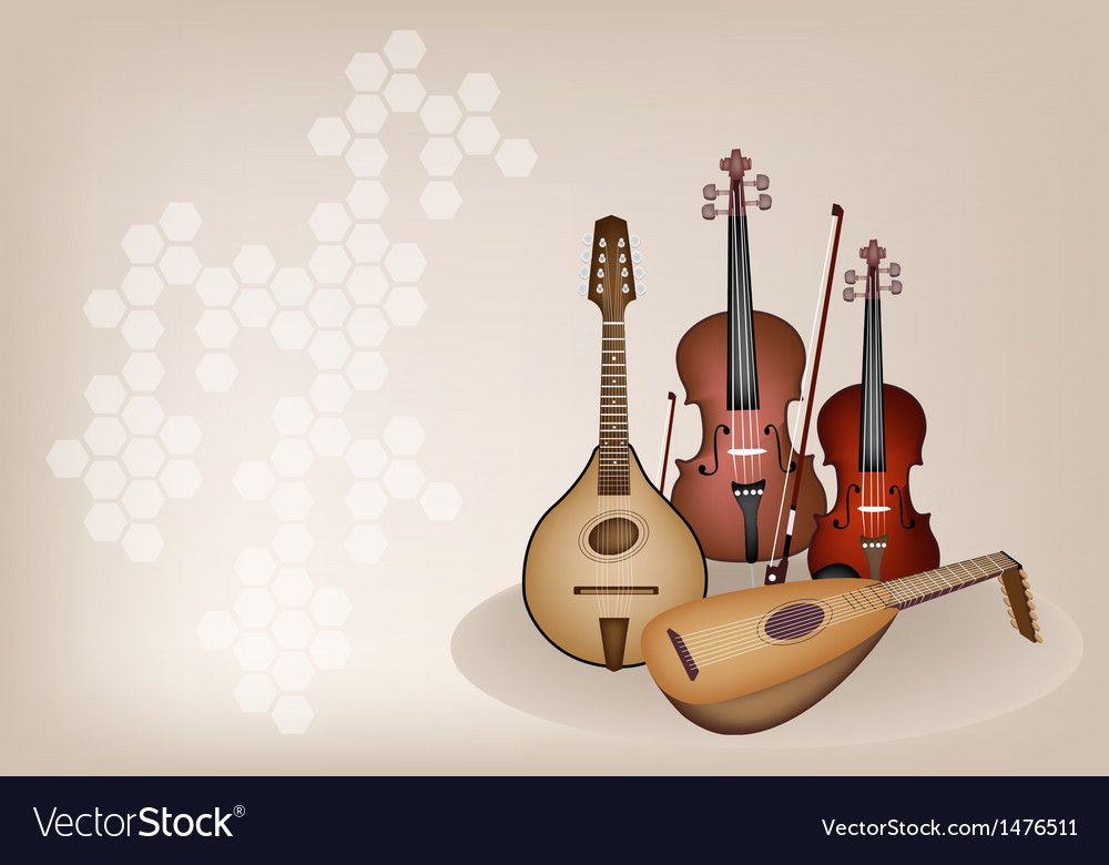 Antique musical instrument strings vector | Price: 1 Credit (USD $1)
