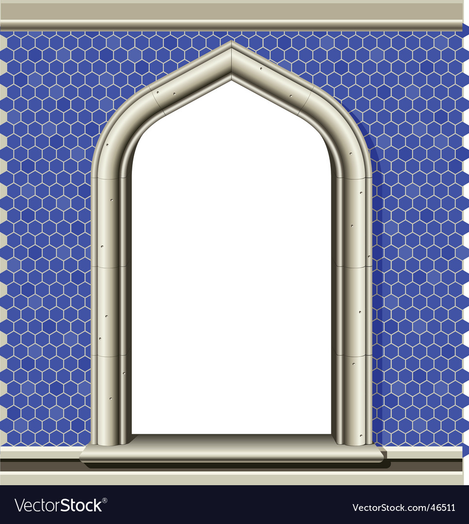Arched window frame vector | Price: 1 Credit (USD $1)