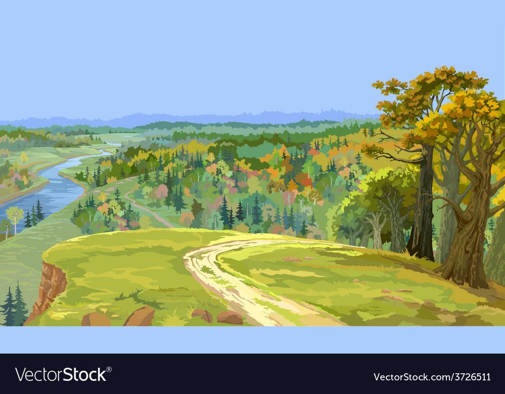 Autumn forest landscape vector | Price: 3 Credit (USD $3)