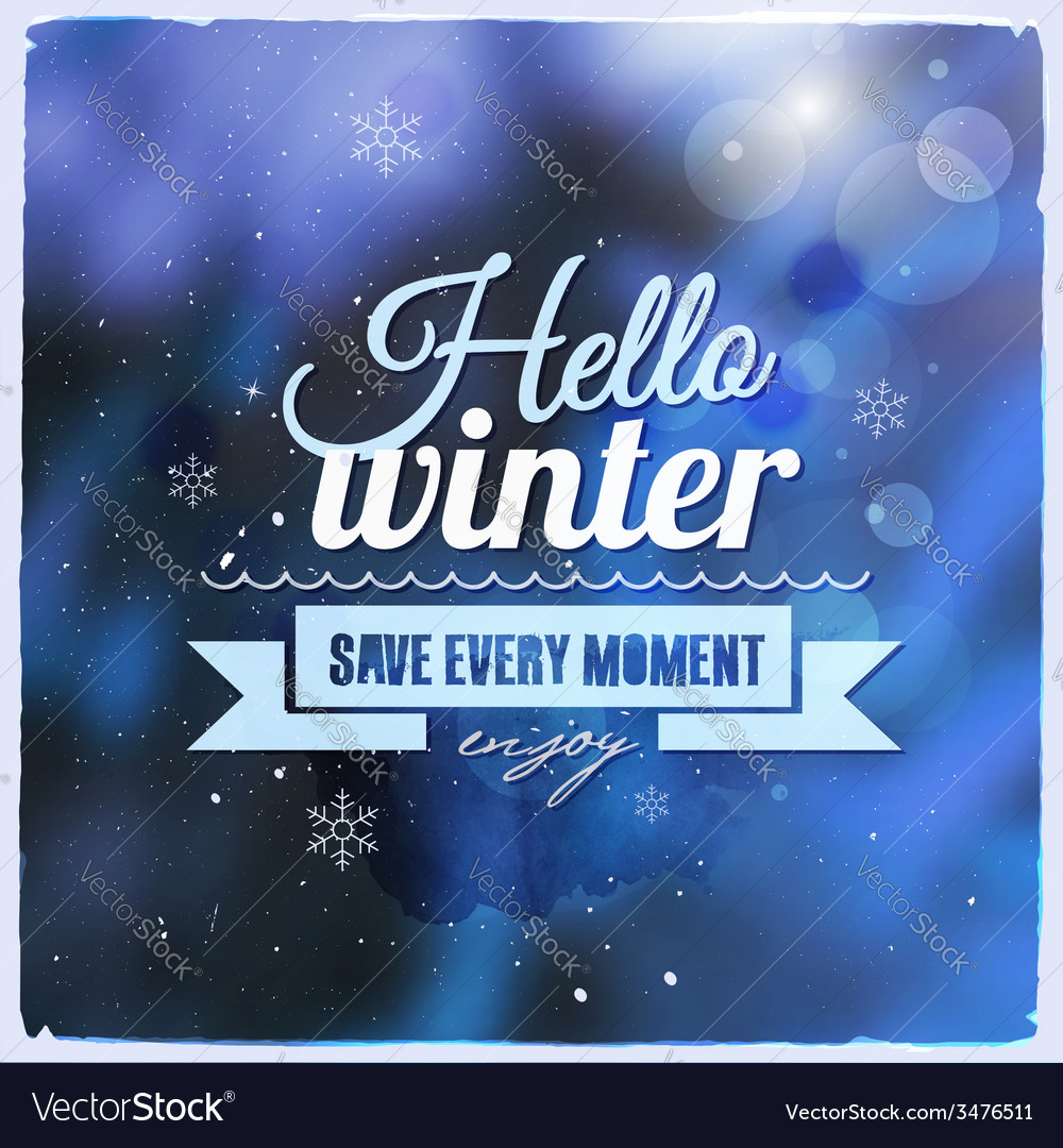 Creative graphic message for winter design vector | Price: 1 Credit (USD $1)