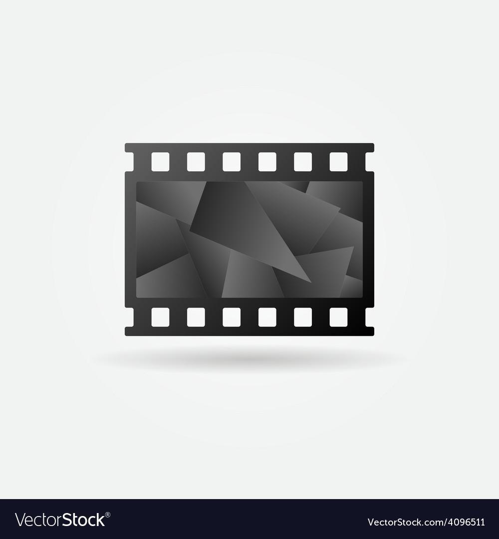 Dark cinema filmstrip logo vector | Price: 1 Credit (USD $1)