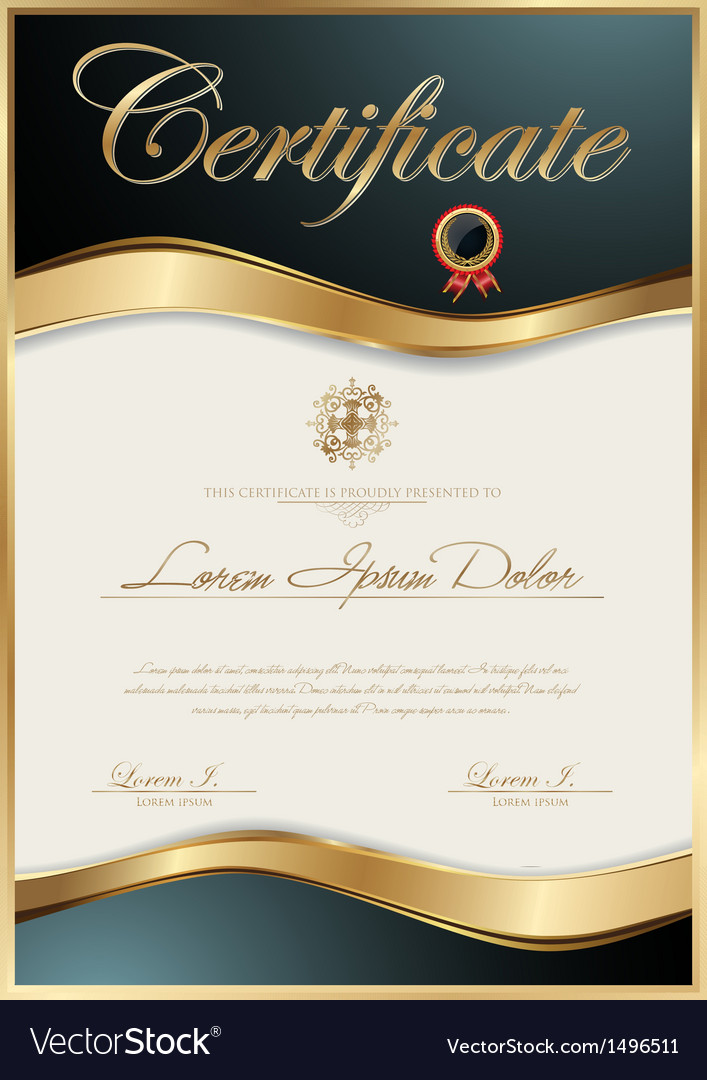 Elegant certificate template vector | Price: 1 Credit (USD $1)