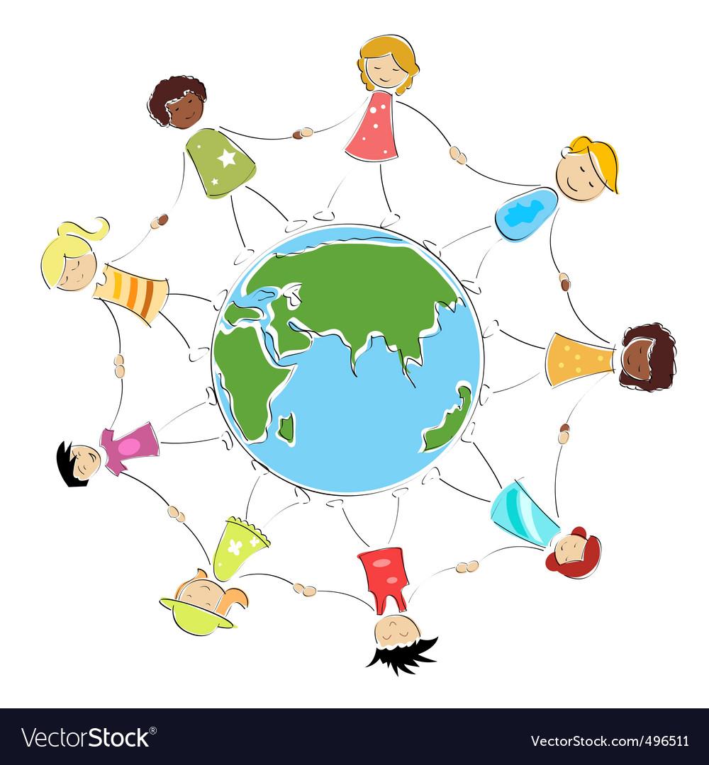 Global children image vector | Price: 1 Credit (USD $1)