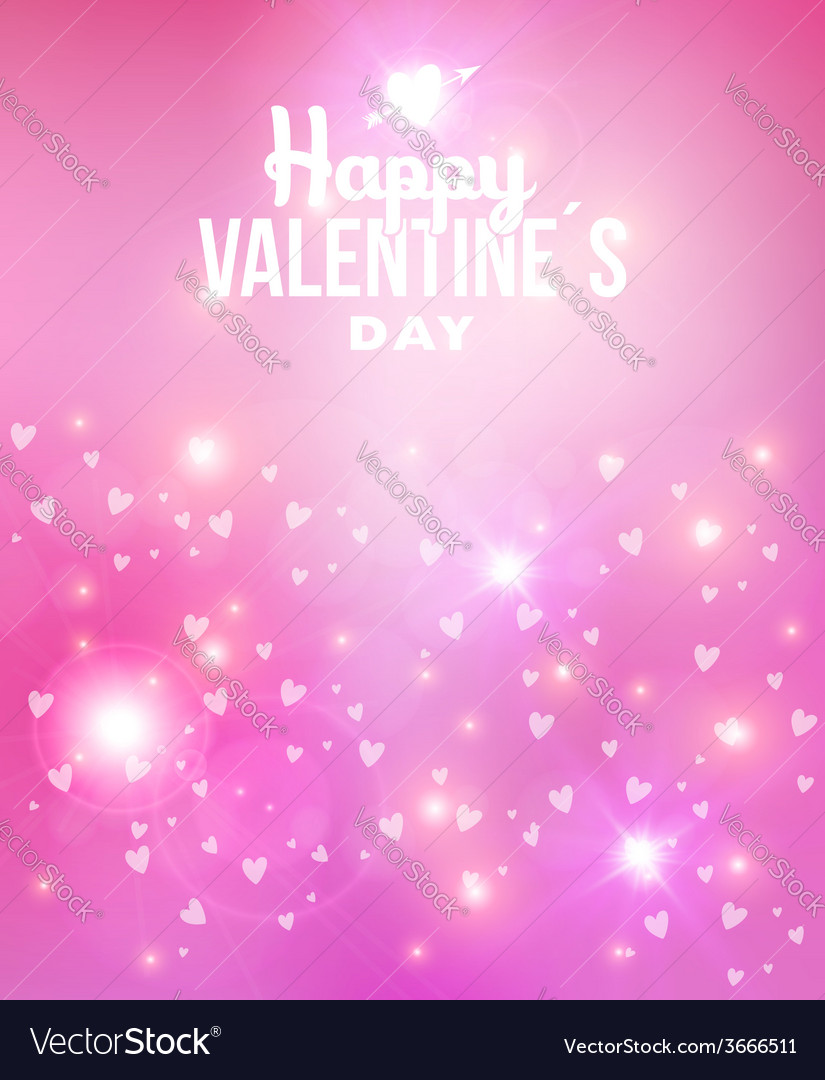 Happy valentines day abstract background vector | Price: 1 Credit (USD $1)
