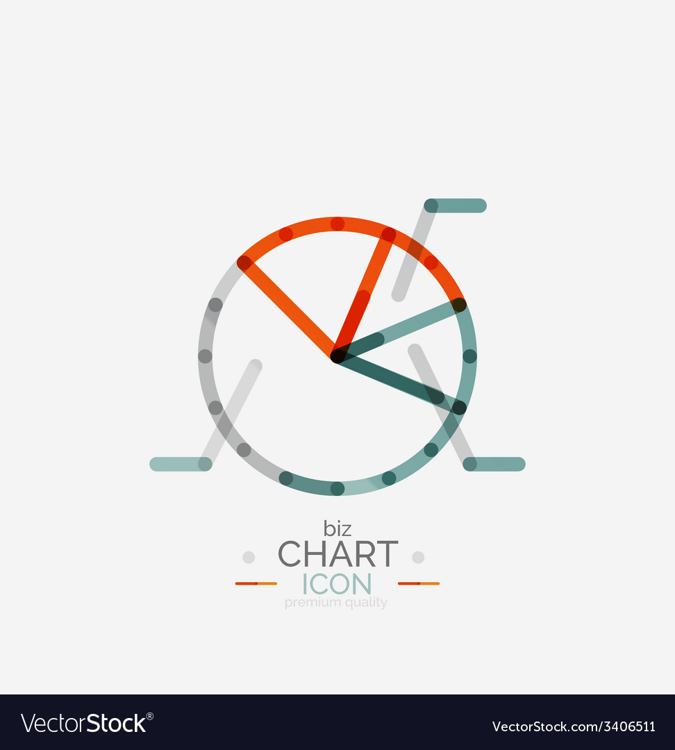 Line graph chart icon vector | Price: 1 Credit (USD $1)