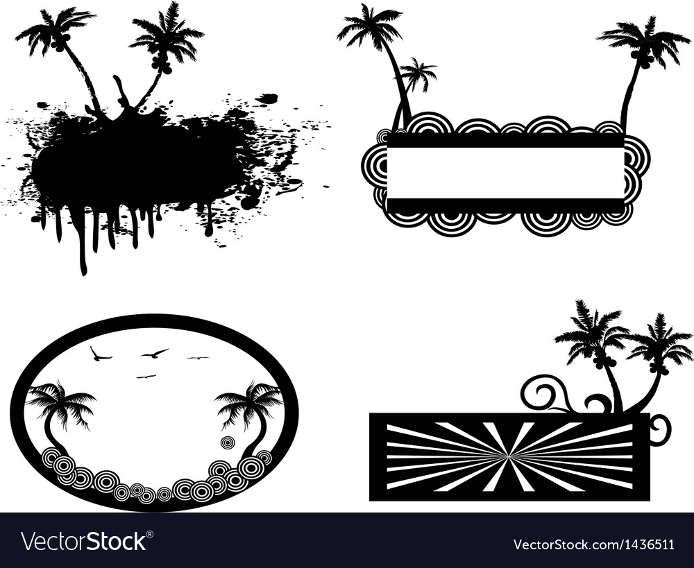 Palm tree frame vector | Price: 1 Credit (USD $1)