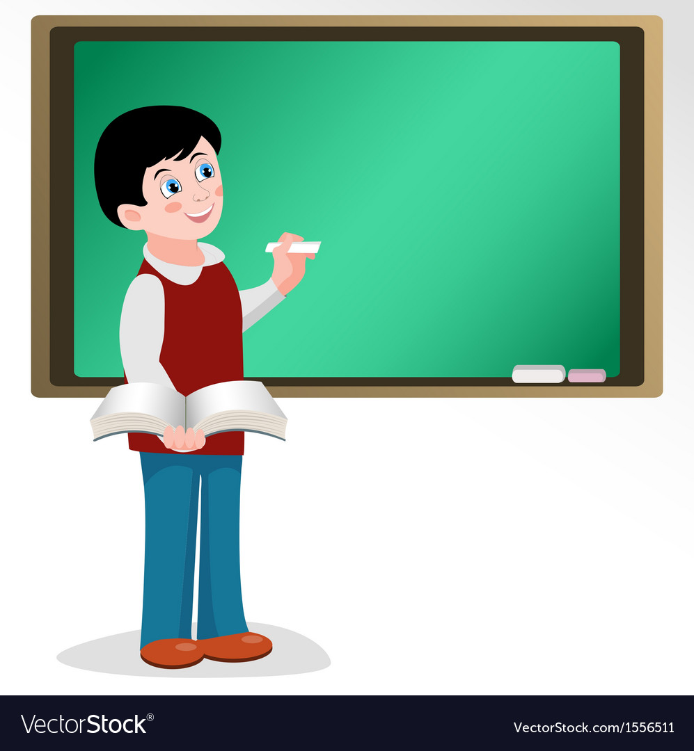 Pupil at school board vector | Price: 1 Credit (USD $1)