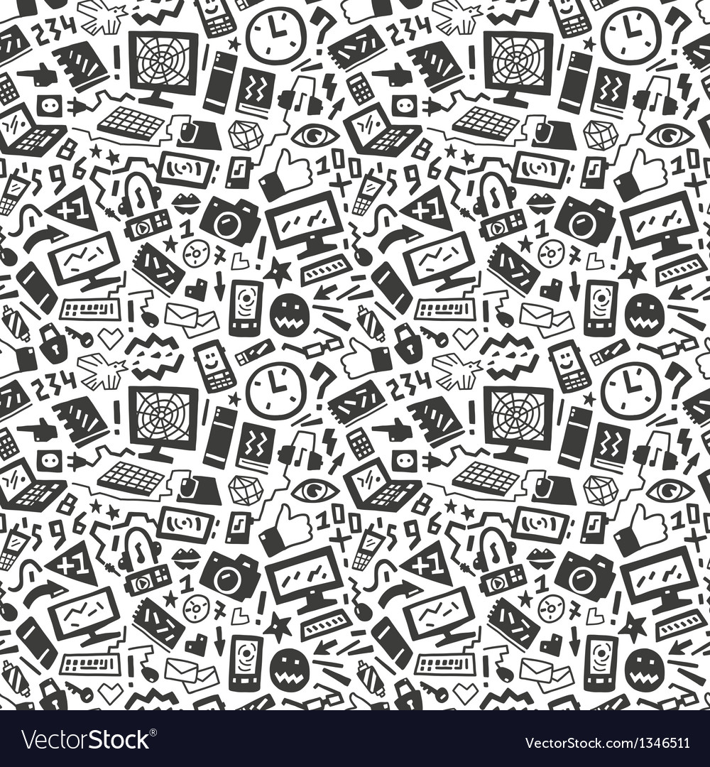 Technology seamless pattern vector | Price: 1 Credit (USD $1)