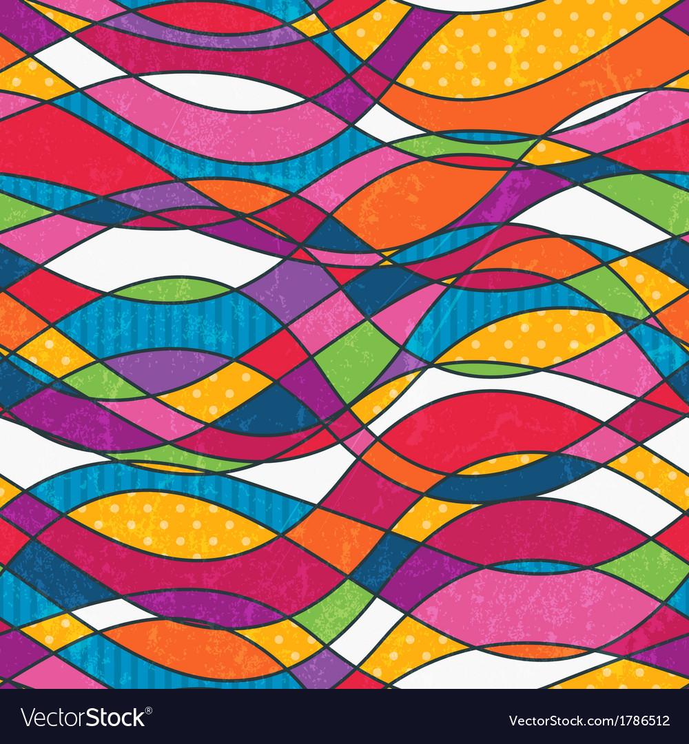 Abstract seamless background with waves vector | Price: 1 Credit (USD $1)