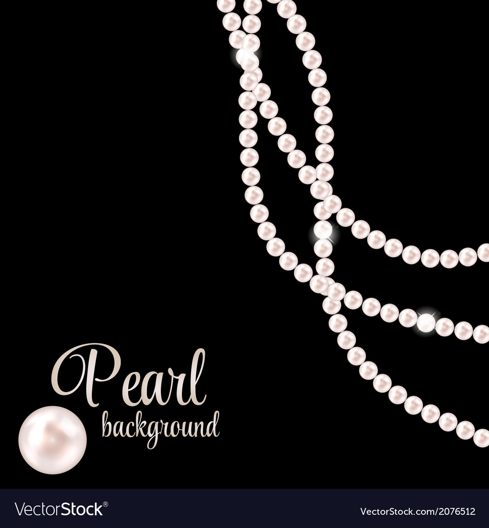 Beauty pearl background vector | Price: 1 Credit (USD $1)
