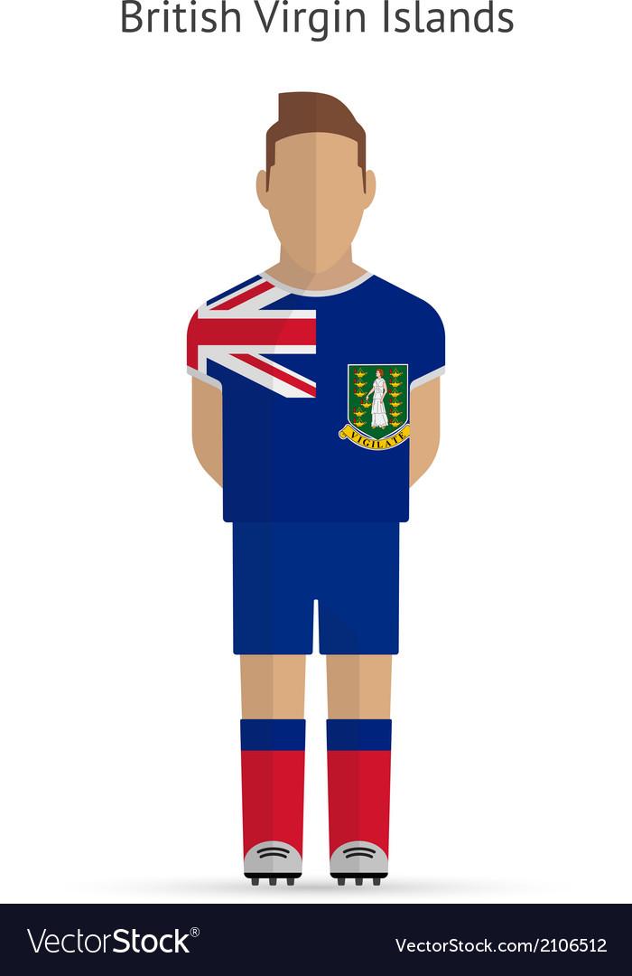 British virgin islands football player soccer vector | Price: 1 Credit (USD $1)