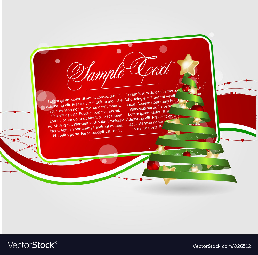 Cards templates with xmas tree vector | Price: 1 Credit (USD $1)