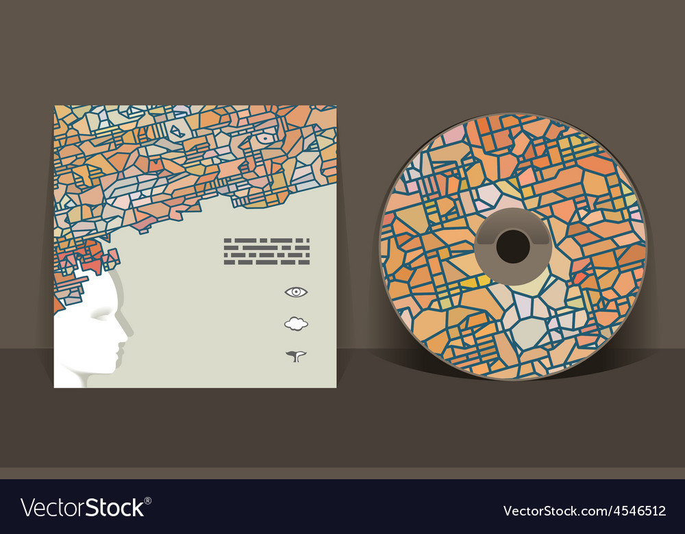 Cd cover design template abstract pattern graphics vector | Price: 1 Credit (USD $1)