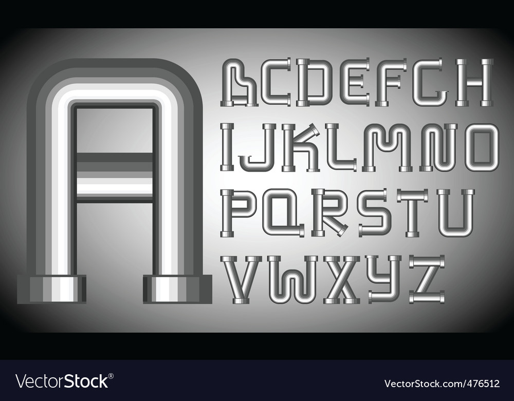 Funnels alphabet vector | Price: 1 Credit (USD $1)