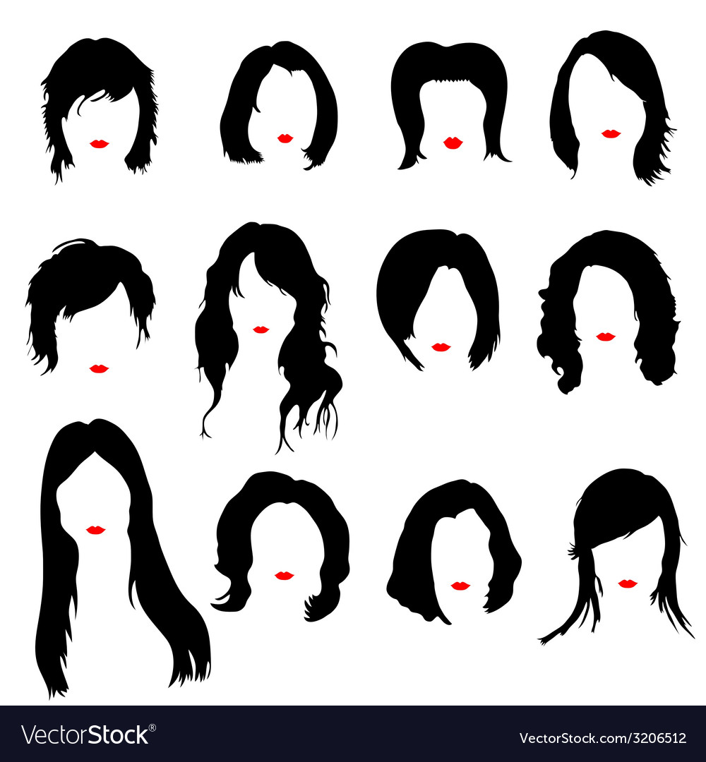 Hairstyles color vector | Price: 1 Credit (USD $1)
