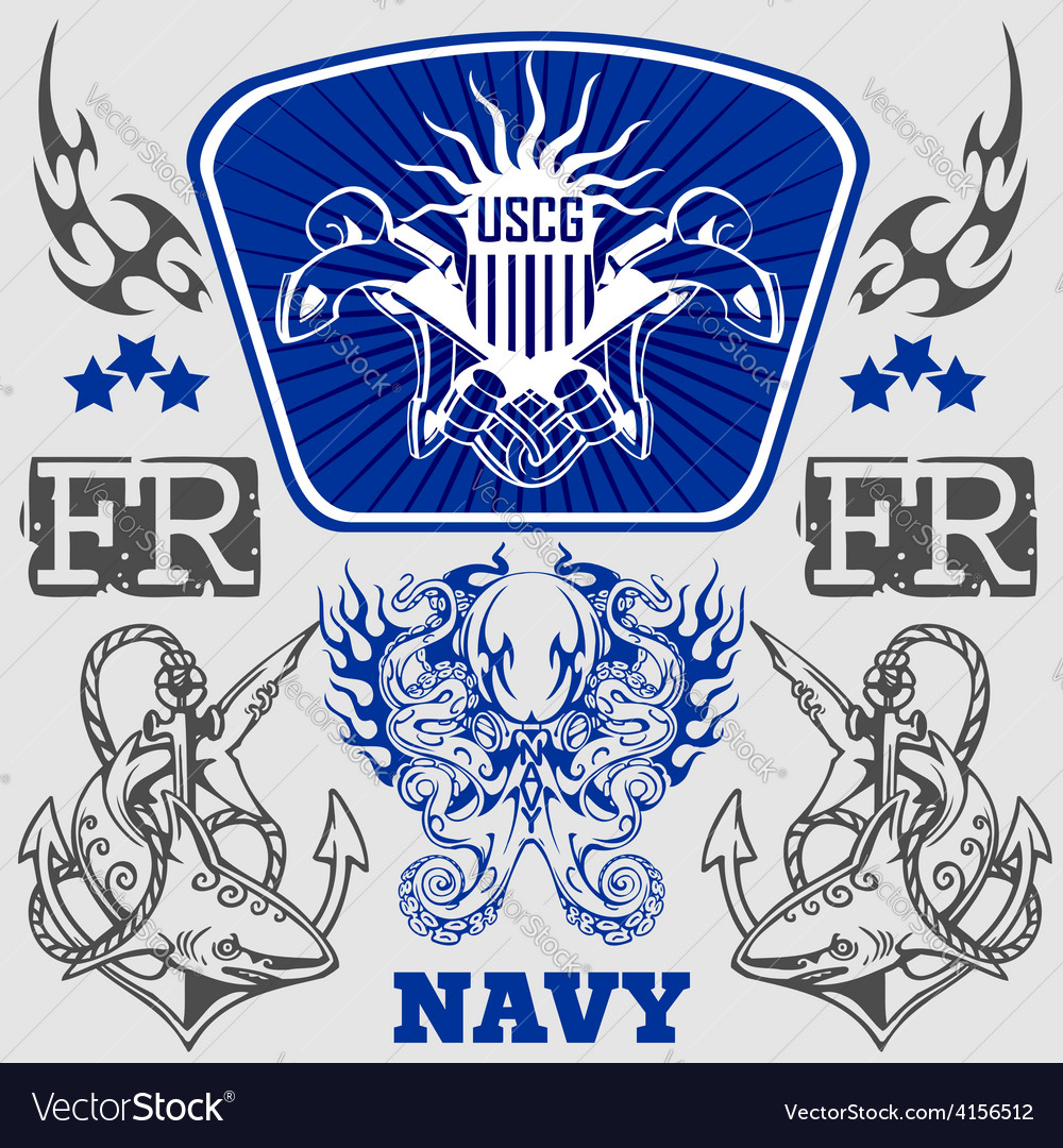 Navy military design - vector | Price: 1 Credit (USD $1)