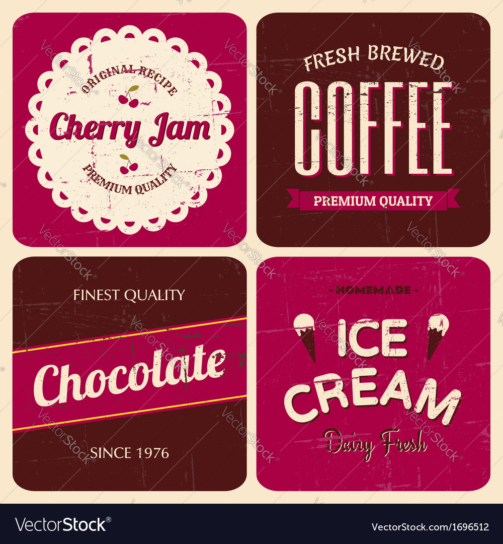 Retro design packaging set vector | Price: 1 Credit (USD $1)