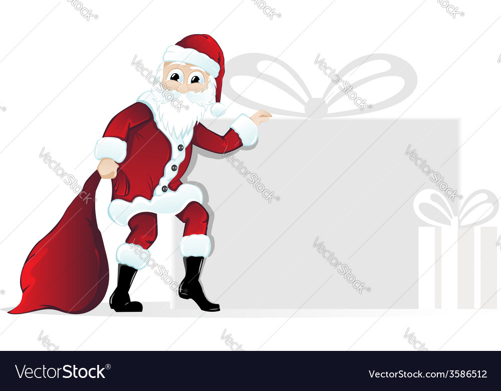 Santa claus with christmas gifts vector   Price: 1 Credit (USD $1)