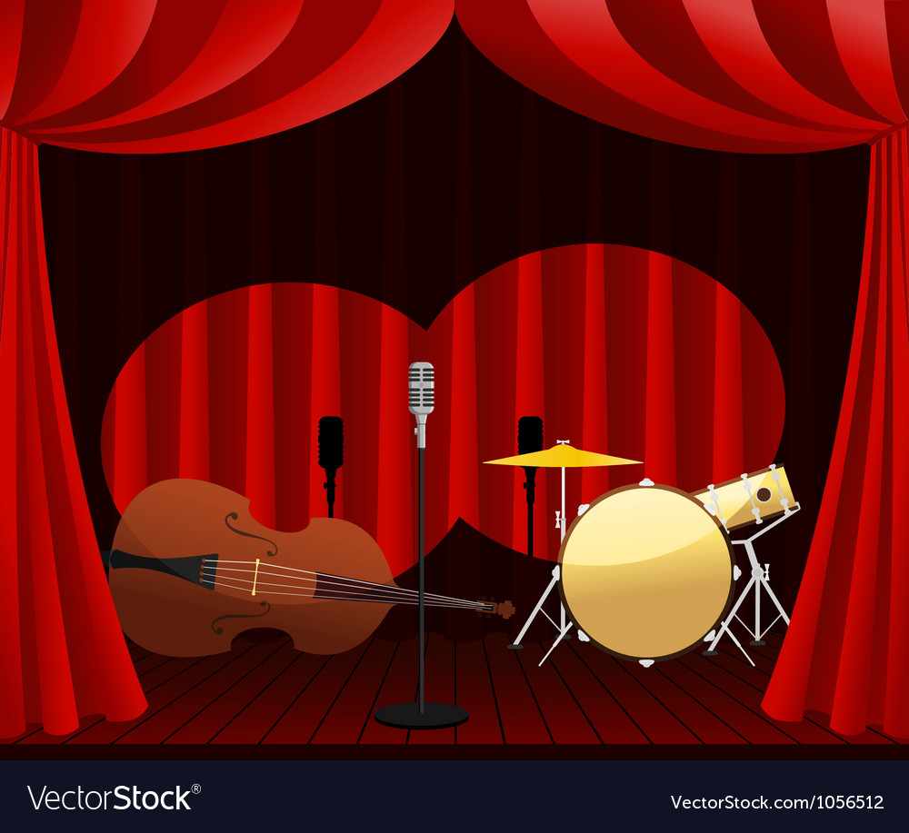Stage for jazz show vector | Price: 1 Credit (USD $1)