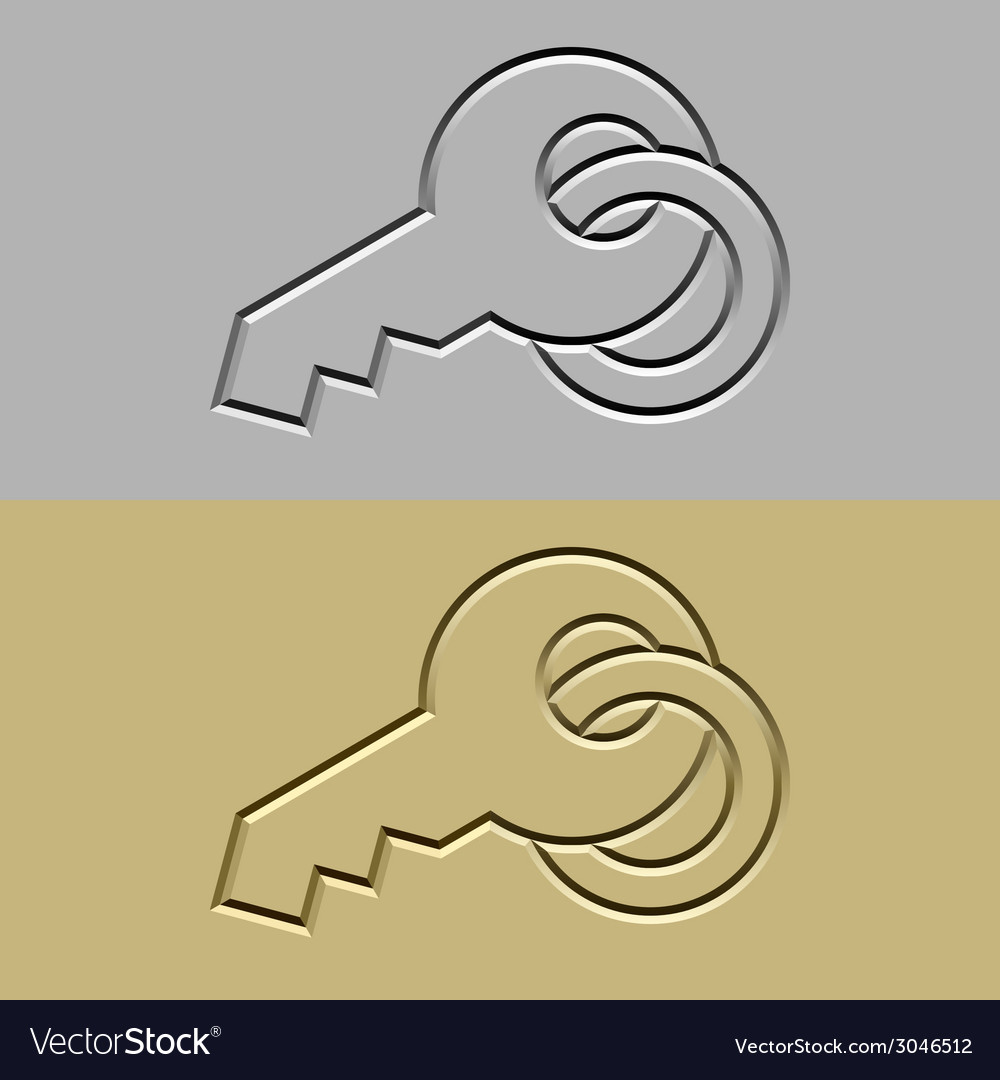 Stone carved key symbol vector | Price: 1 Credit (USD $1)