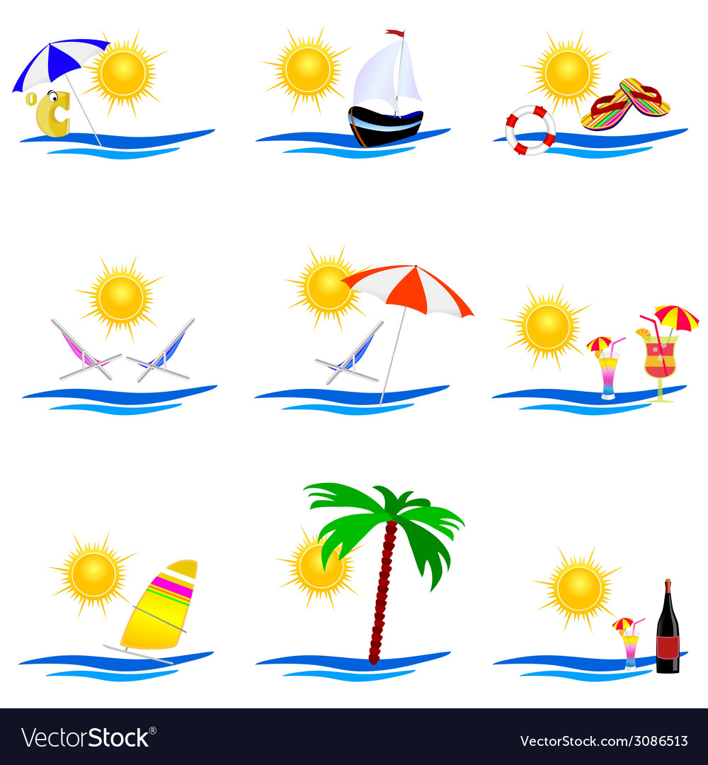 Beauty summer icon vector | Price: 1 Credit (USD $1)