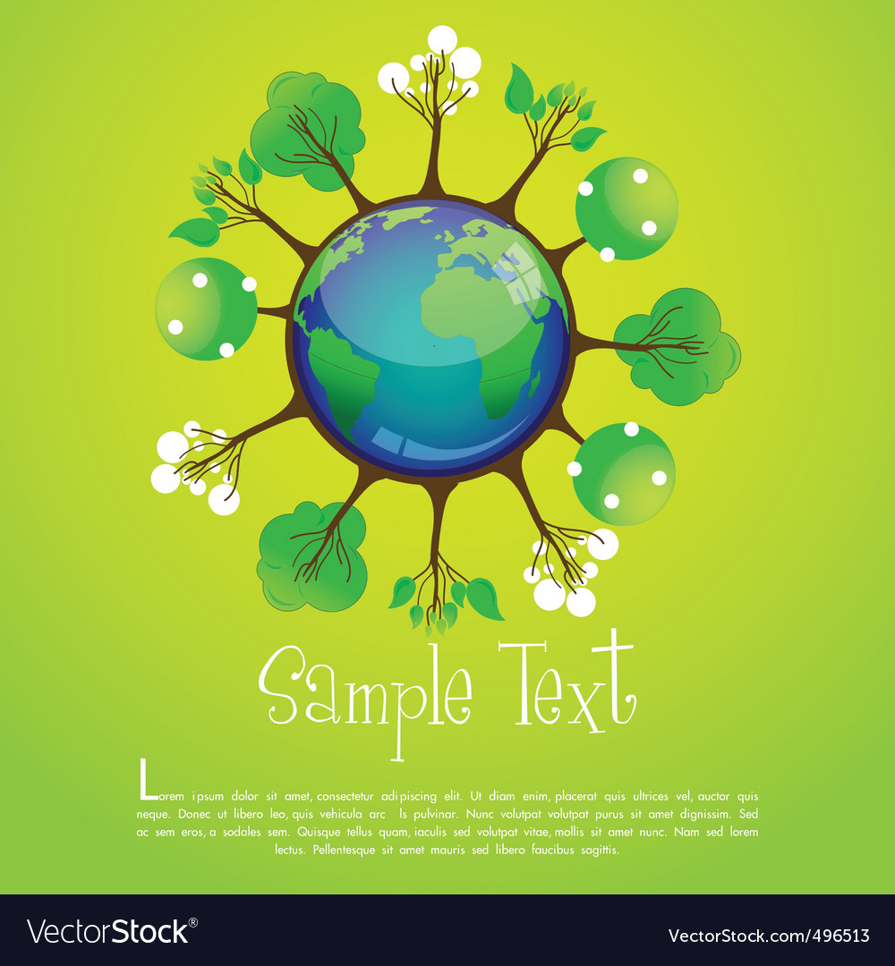Global recycle vector | Price: 1 Credit (USD $1)