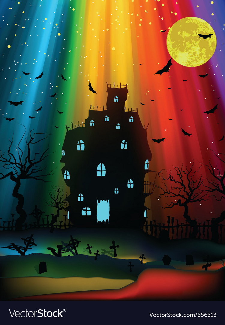 Halloween old mansion eps 8 vector | Price: 1 Credit (USD $1)