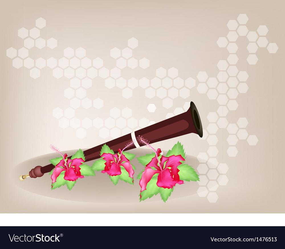 Musical serunai flower background vector   Price: 1 Credit (USD $1)