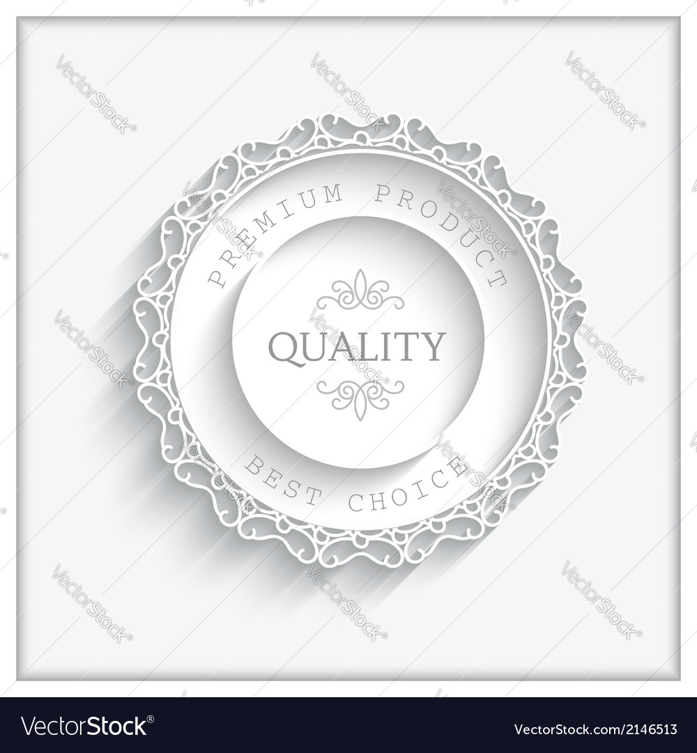 Round paper frame vector | Price: 1 Credit (USD $1)