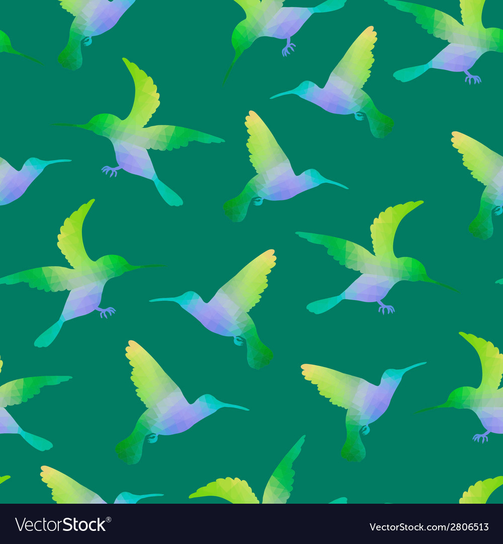 Seamless nature background with hummingbirds vector | Price: 1 Credit (USD $1)
