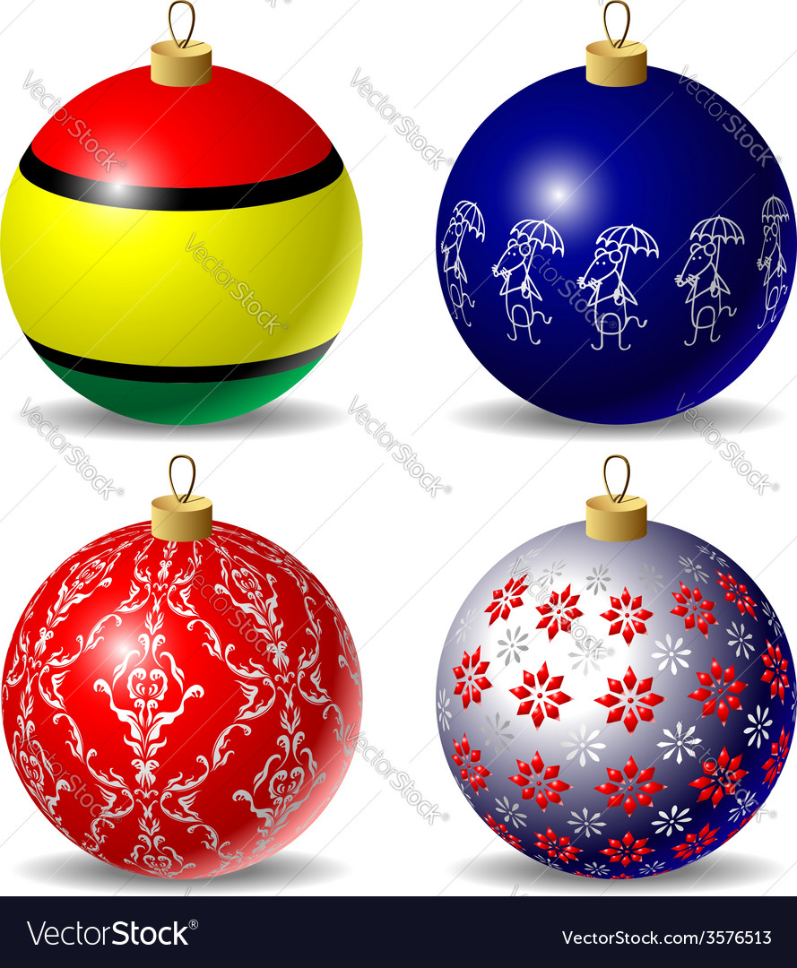 Set of christmas baubles vector | Price: 1 Credit (USD $1)