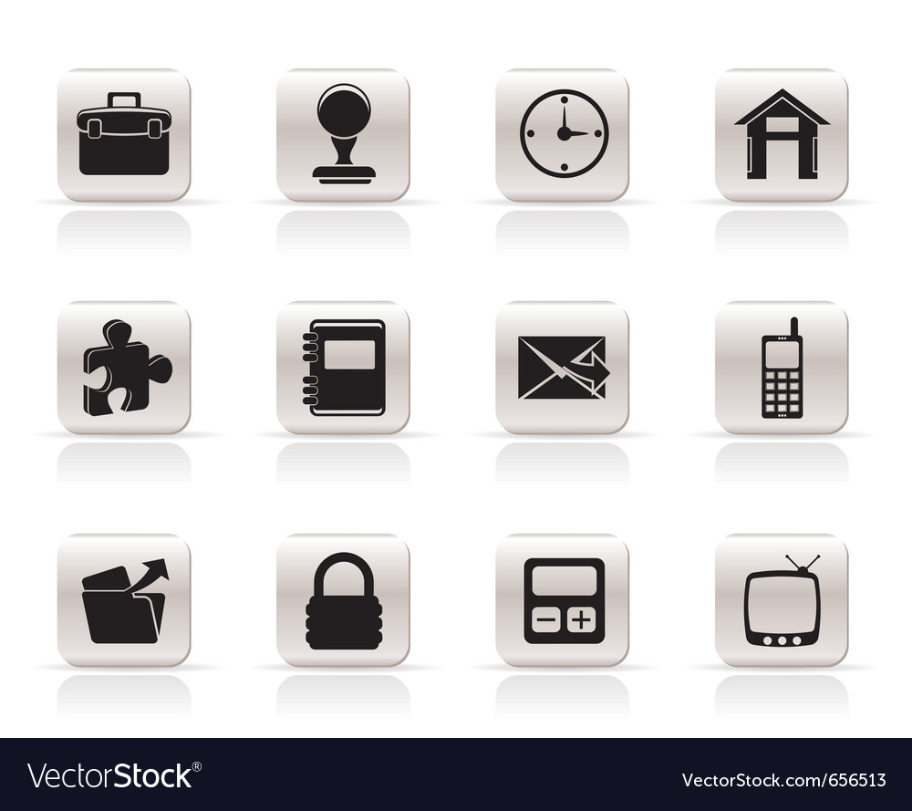 Simple business and office icons vector | Price: 1 Credit (USD $1)