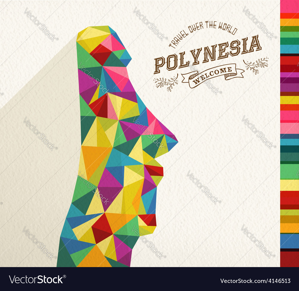 Travel polynesia landmark polygonal monument vector | Price: 1 Credit (USD $1)