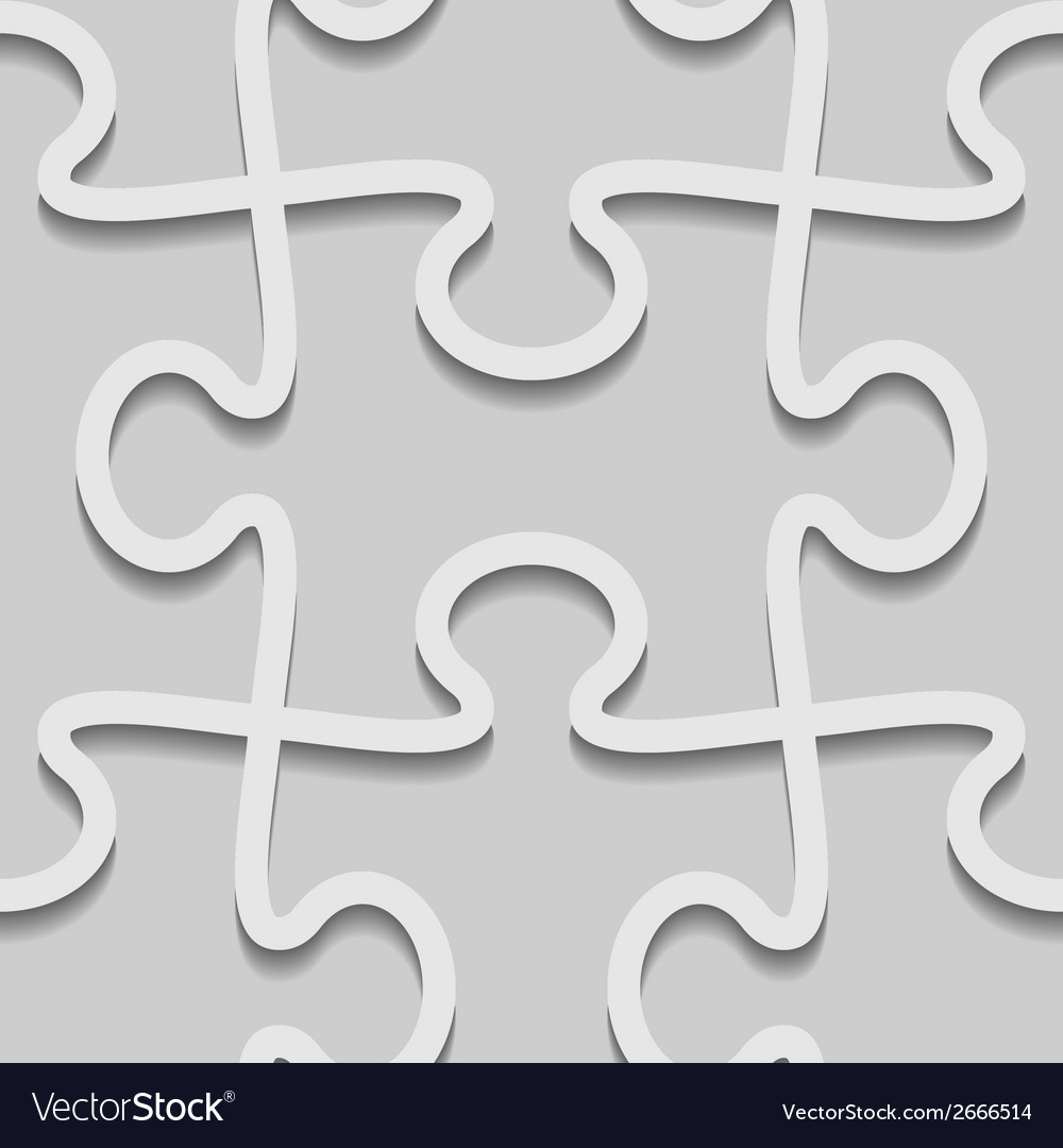 3d paper seamless puzzle pattern vector | Price: 1 Credit (USD $1)