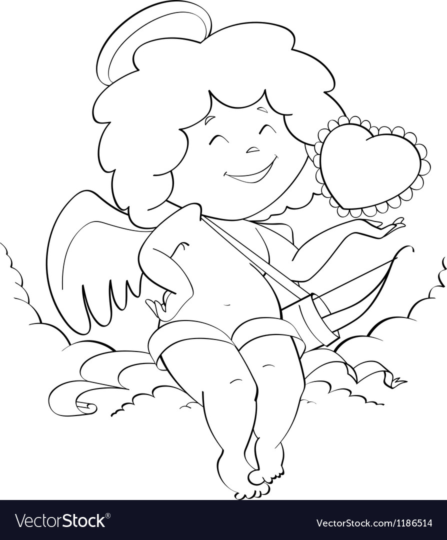 Angel cupid for valentines vector | Price: 1 Credit (USD $1)