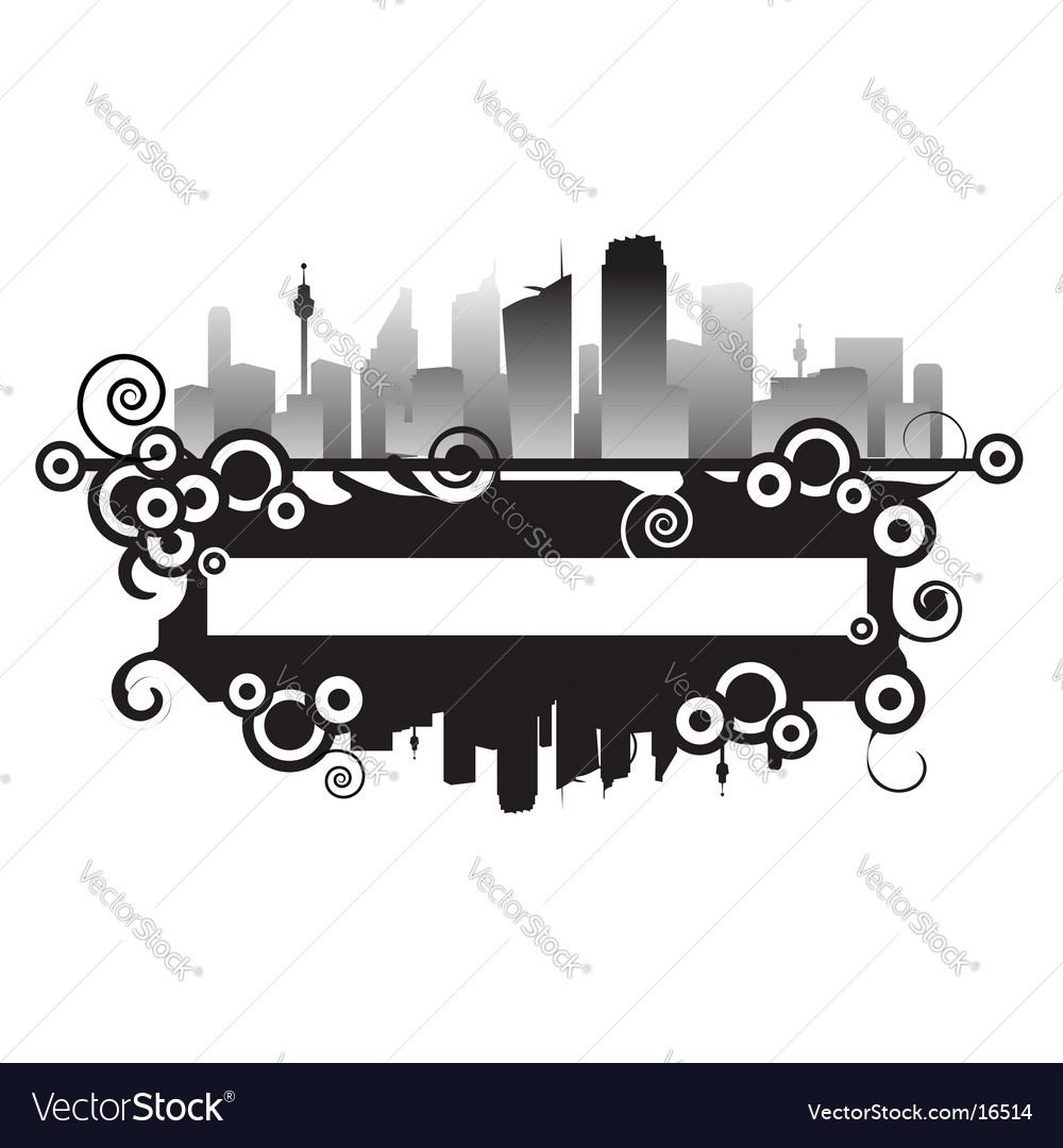 Cityscape frame vector | Price: 1 Credit (USD $1)
