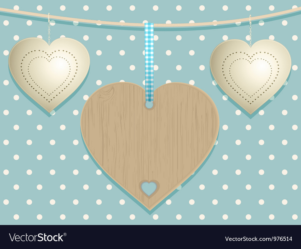 Cute hearts background vector | Price: 1 Credit (USD $1)