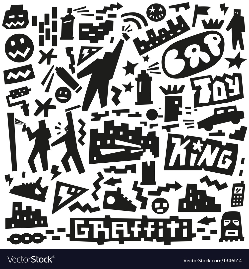 Graffiti spray paint doodles vector | Price: 1 Credit (USD $1)