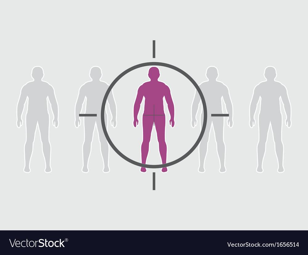 Human target vector | Price: 1 Credit (USD $1)