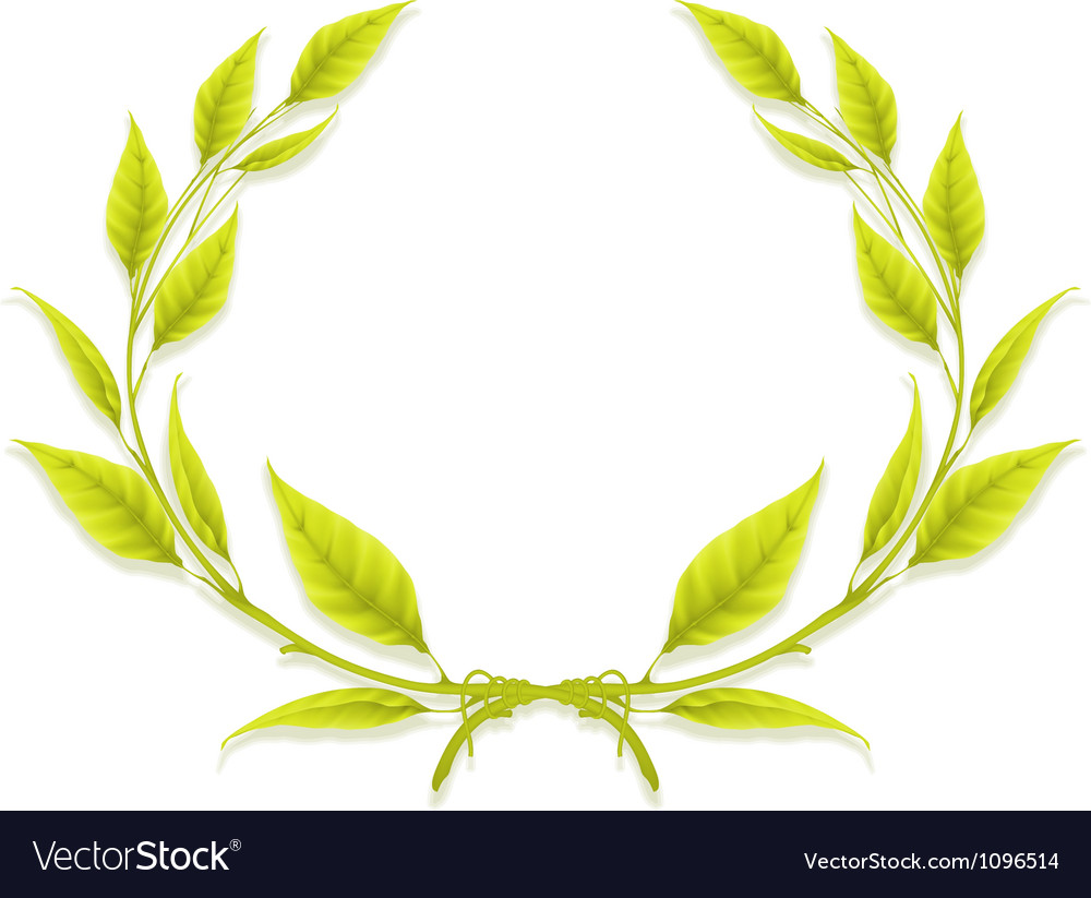 Laurel wreath design element vector | Price: 1 Credit (USD $1)