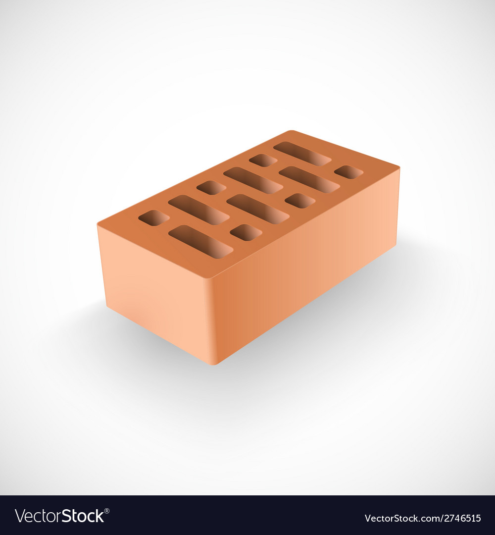 Brick realistic template vector | Price: 1 Credit (USD $1)